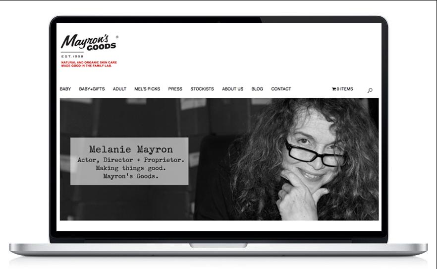 Mayron's Goods by Emmy Award Winner Melanie Mayron