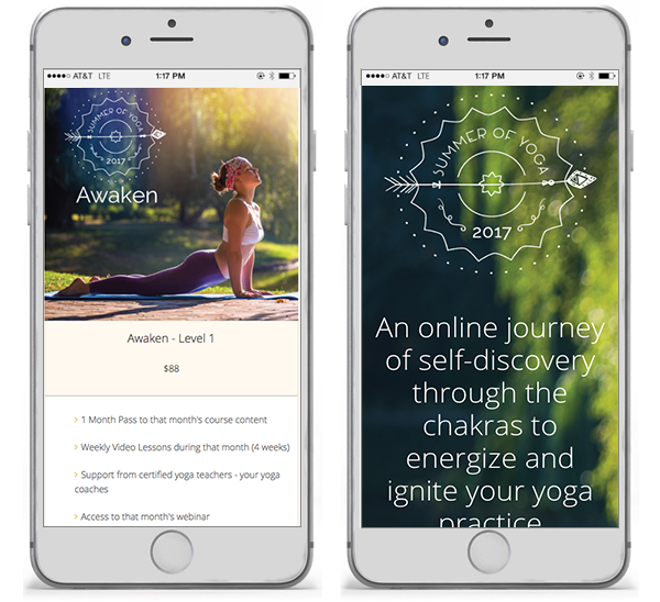 Summer of Yoga - summerofyoga.com mobile view
