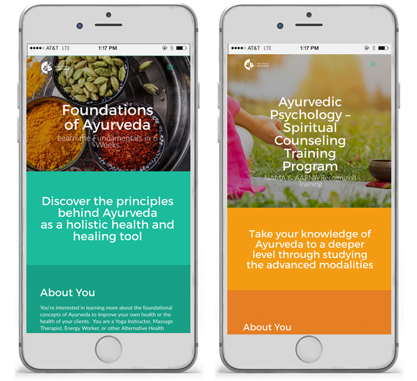 New World Ayurveda mobile view